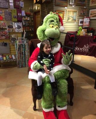 Grinch kicks off food drive at Phoenix Books