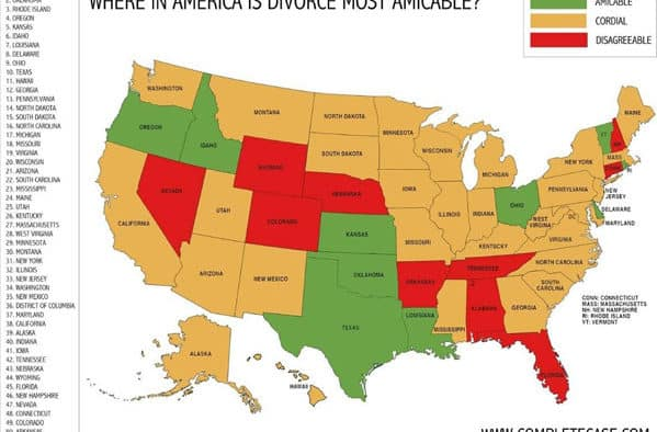 The most amicable divorces in the U.S. happen in Vermont