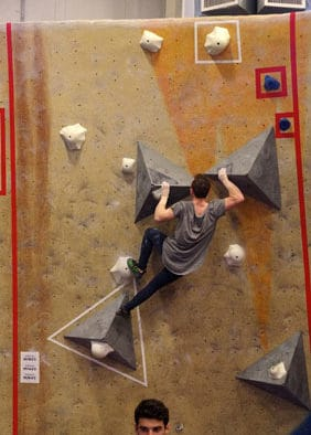 Sam Hayden places fourth in climbing championships
