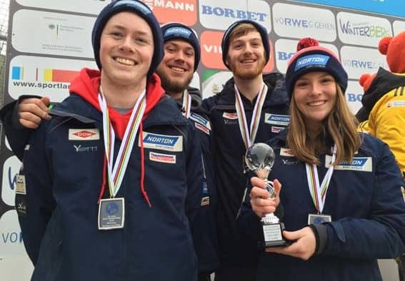 USA luge takes silver medal in Team Relay at Junior World Championships held in Germany