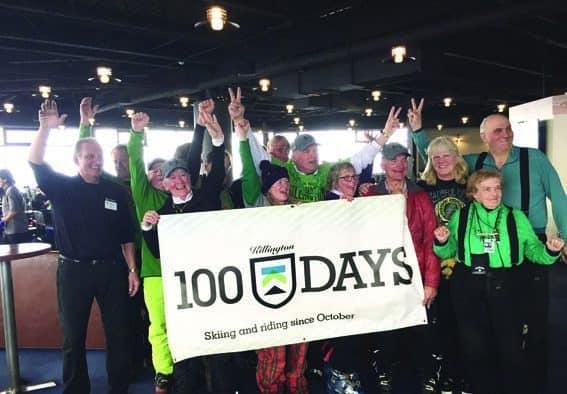 Killington's 100 Days Club members celebrate