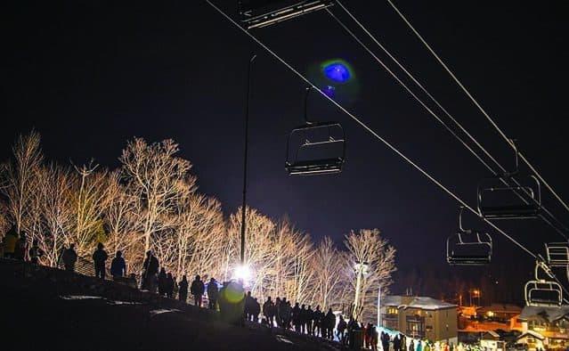 Skiers and riders shine at Okemo's Light the Night rail jam