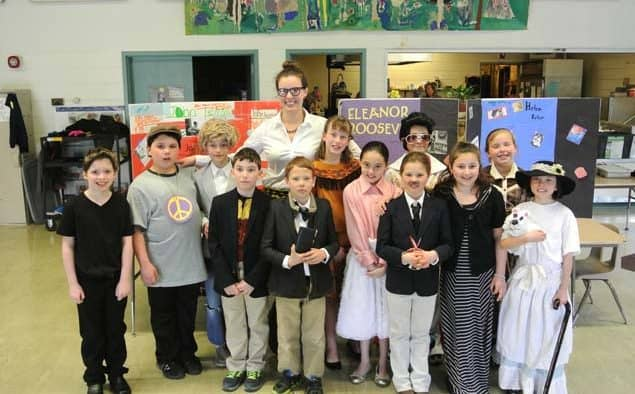 "KES 4th grade presented ""wax museum"" of historical figures"
