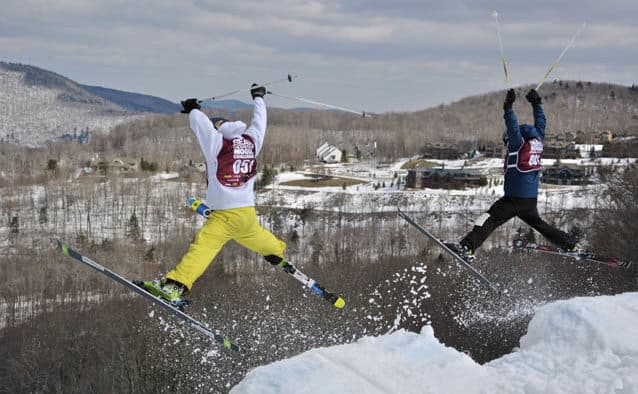 Killington's Bear Mountain Mogul Challenge parties on