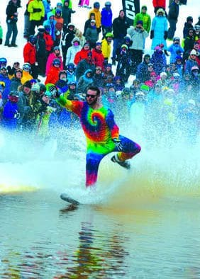 Wacky, wet, and cold: Killington's pond skimming delivers thrills and chills