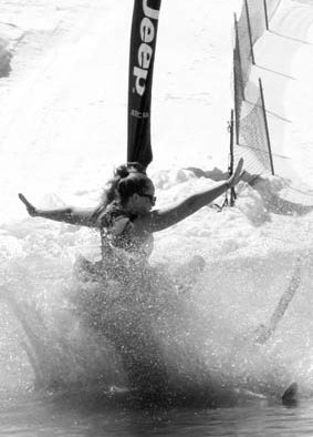 Pond skimmers have fun in the sun