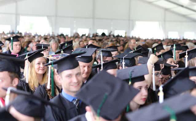 """Castleton celebrates first Commencement as """"Uni,"""" Capt. Phillips addresses grads"""