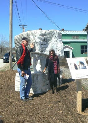 Massive marble sculpture installed at Vermont Farmers Food Center