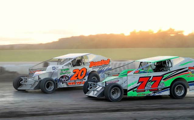 The asphalt track at Devil's Bowl Speedway opened Saturday, May 21, dirt race rained out Sunday