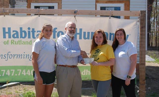Castleton University Habitat for Humanity Club makes donation