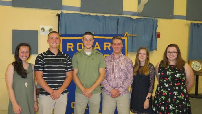 Rotary scholarships awarded to six GMUHS seniors