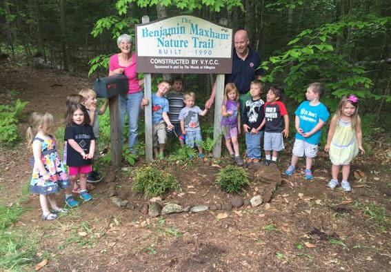 Trees planted for Nancy Evans Hamor's 70th birthday