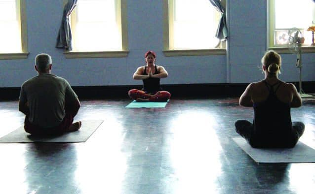 Ferrandino finds serenity in yoga, guides practice
