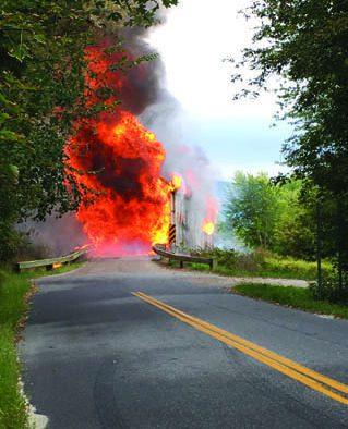 Witnesses watch bridge ignite; colony of bats feared dead