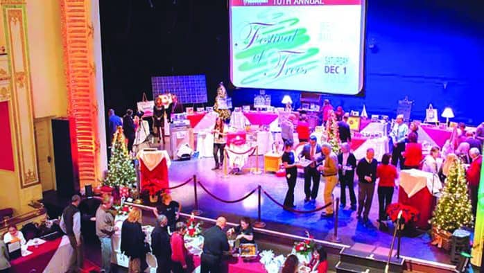 Paramount Theatre presents annual benefit auction on stage, Festival of Trees, Saturday