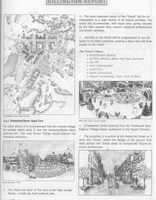 Killington Village plan no. 3: hotel, on-mountain progress, snags