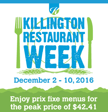 The Town of Killington's Restaurant Week continues through Dec.10.