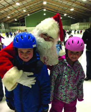 Kids can skate with Santa