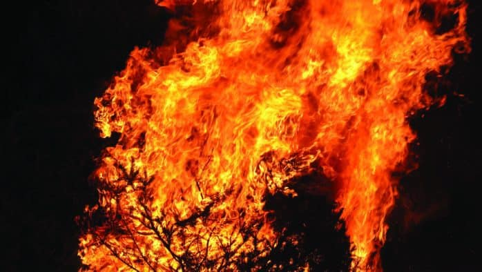 "Christmas tree bonfire aims to appease ""snow gods"""