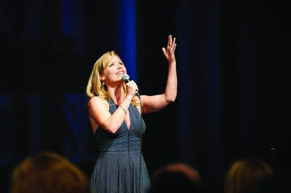 "Marissa McGowan sings ""Broadway at the Movies"" at Ludlow auditorium"