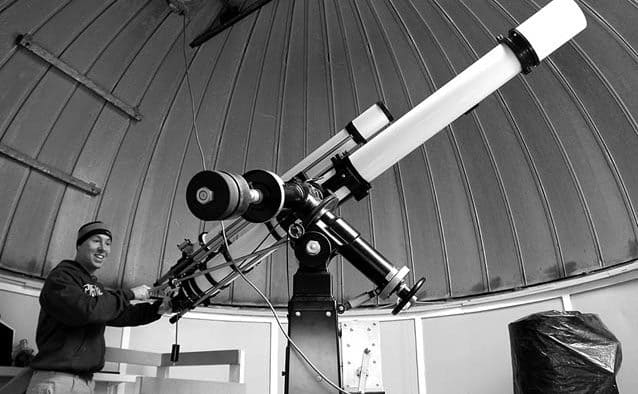 CU home to rare, vintage Unitron telescope