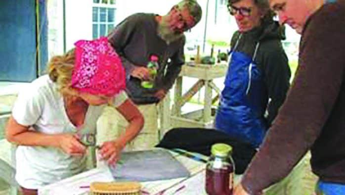 Carving Studio offers letter carving workshop