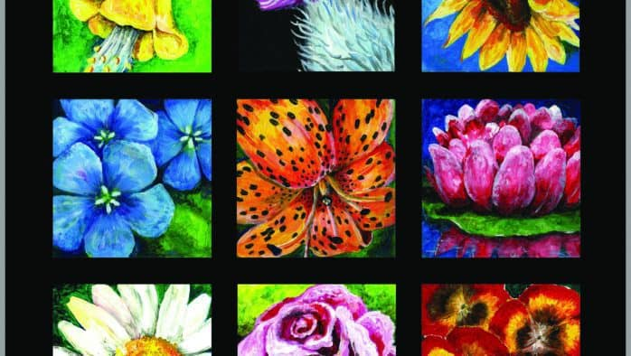 "Artist Norma Montaigne opens vibrant exhibit, ""Splash of Color,"" Sunday"
