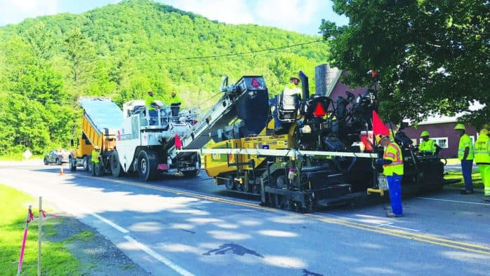 After holiday, road work resumes
