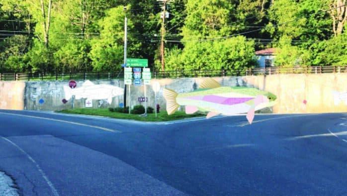 Bethel bringing 200-foot trout mural to life