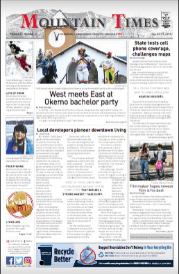 The Mountain Times – Volume 48, Number 7:  Jan. 23-29, 2019