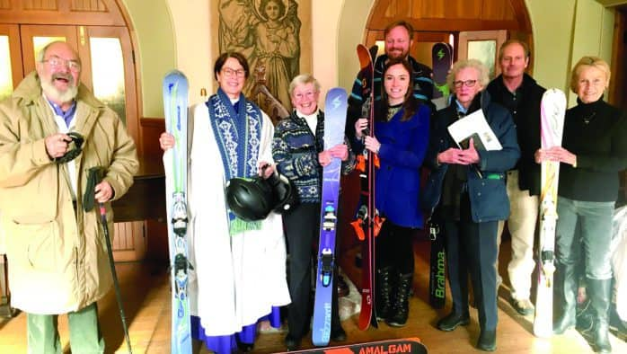 Skier and snow enthusiast blessing kicks off coat drive