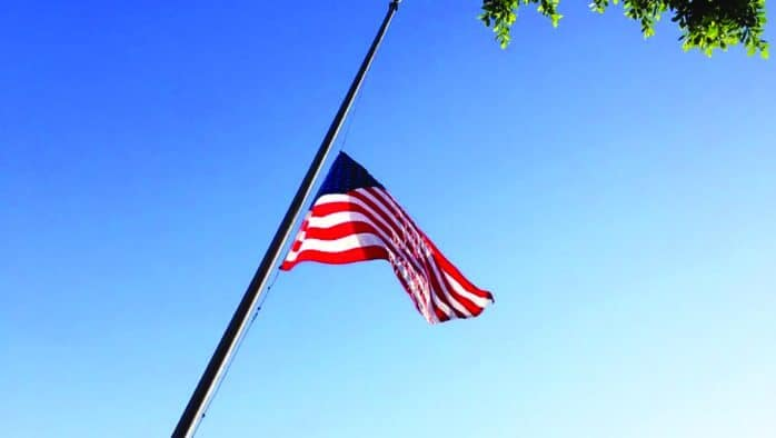 Flags to fly half-staff on the 19th of every month in 2020 to honor victims of Covid-19