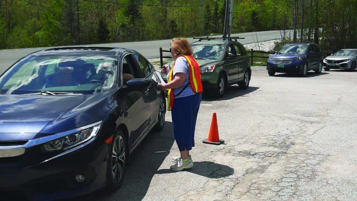 Seniors cause traffic jam