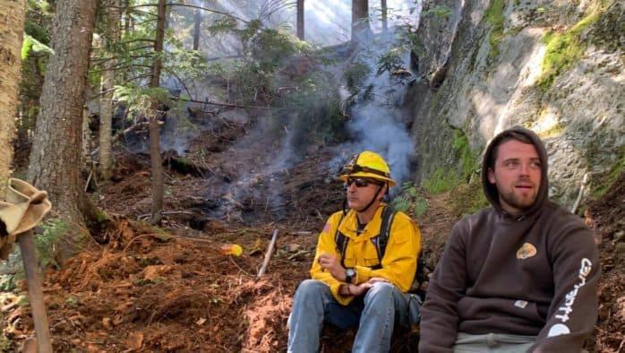 Forest fire burns at Deer Leap