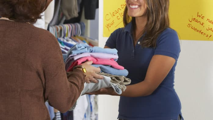 Revive Church gives away clothing