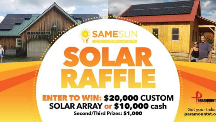Paramount Theatre announces raffle for solar array from Same Sun Vermont