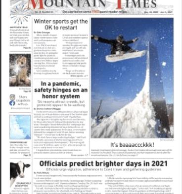 Mountain Times – Vol. 49, No. 53 – Dec. 30, 2020 – Jan 2, 2021