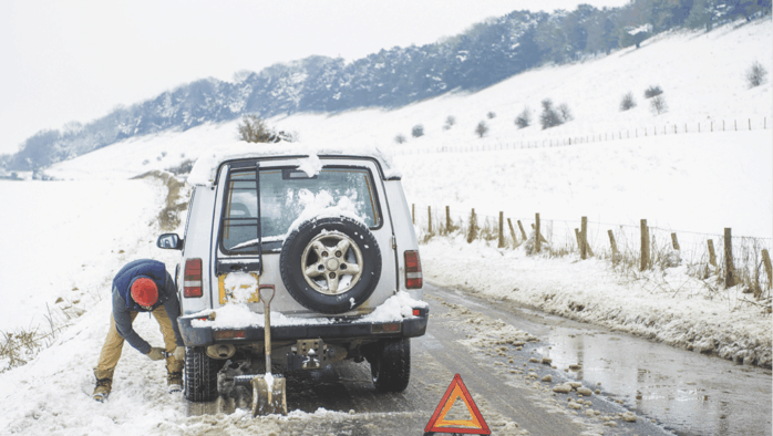 Stock the car for winter roadside emergencies