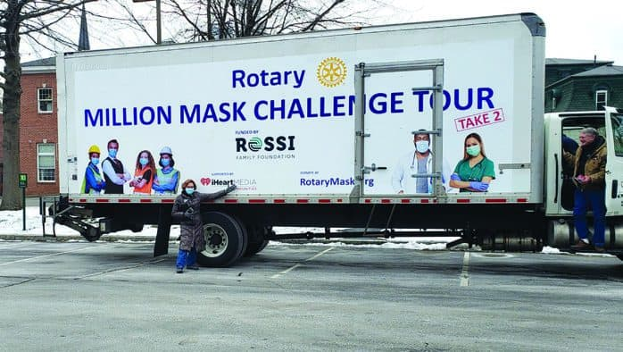 Ludlow Rotary receives 2,000 masks for Covid-19 use