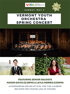Vermont Youth Orchestra to livestream end-of-season concert