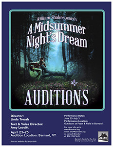 BarnArts announces auditions for 'A Midsummer Night's Dream'