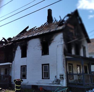 Fire guts Baxter Street duplex