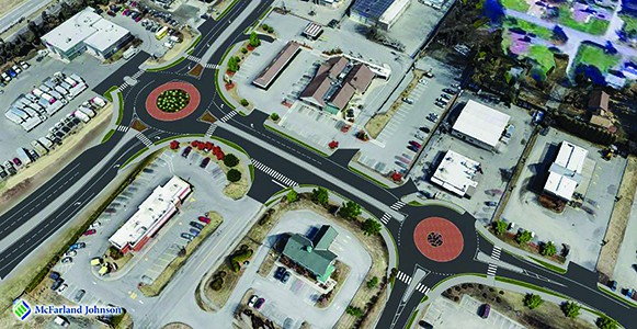Roundabout opens in Hartford