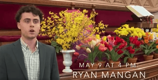 'Songs of Rebirth': Ryan Mangan offers Mother's Day recital
