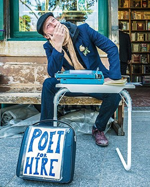 """""""Poet for Hire"""" Returns to Area to Participate in 77ART"""