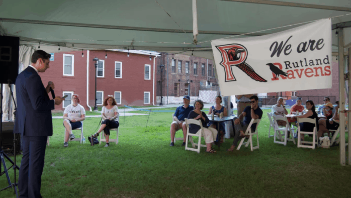 Rutland Ravens event draws local leaders and celebrates mascot change