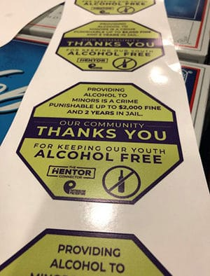 Sticker Shock campaign aims to keep youth safe, alcohol free