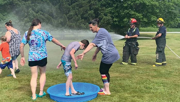 Firefighters help Mettawee students cool off