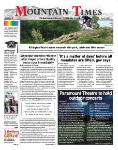 Mountain Times – Volume 50, Number 22 – June 2-8, 2021