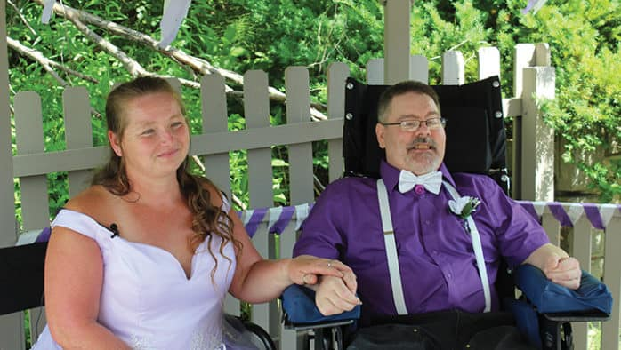 Couple overcomes all odds to tie the knot